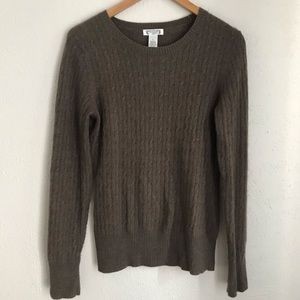Aphorism Anthropologie Cable Knit Sweater Sz L